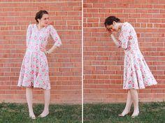 Turn a Tee Pattern Into a Dress - One Little Minute Blog -Cute Tribal circle dress