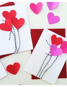 Heart balloon cards for valentine's day. 3 easy valentine's crafts that are easy for kids Valentine Crafts For Kids, Valentines Day Activities, My Funny Valentine, Valentines For Kids, Valentines Day Party, Valentine Decorations, Holiday Crafts, Diy Valentine, Valentine's Day Crafts For Kids