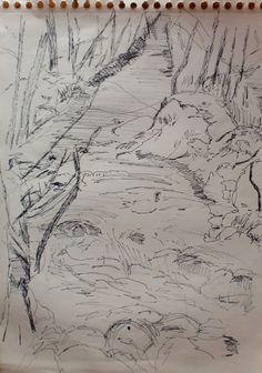 Arte Moderna e Contemporânea: Riacho, caminho pedonal em Caldas de São Jorge