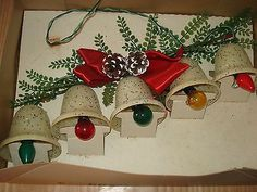Vintage Ringalite Christmas Bell Lights Holiday Decoration Lights Christmas Light Bulbs, Old Christmas, Christmas Makes, Antique Christmas, Christmas Things, Vintage Christmas Ornaments, Christmas Bells, Christmas Wishes, Christmas Decorations