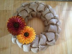 Fall wreath - add more color but like the base
