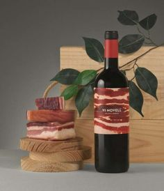 The Vi Novell Packaging Design Features a Carnivorous Concept #wine trendhunter.com