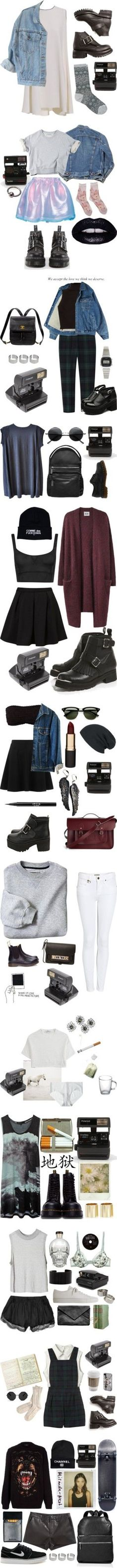 """Shootfits"" by froufrouu ❤ liked on Polyvore I want everything.... Pity I'm not cool enough to pull any of them off! :/"