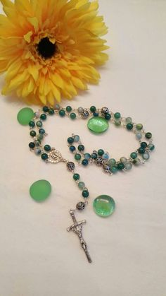 October sale! SHIPFREE! Womens/girls Green Jasper Rosary!  Prayer Beads, Handmade, Catholic gifts, Baptism Gift,Women's, Girl's,  Prayer by AutumnsBlessing on Etsy https://www.etsy.com/listing/264421606/october-sale-shipfree-womensgirls-green