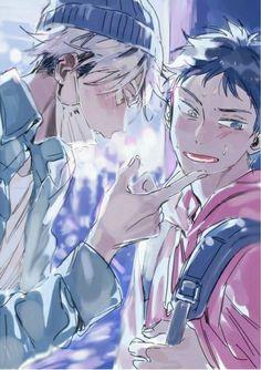 Bokuto x Akaashi Bokuto X Akaashi, Kuroken, Bokuaka, Haikyuu Meme, Haikyuu Ships, Haikyuu Fanart, Bokashi, Haikyuu Wallpaper, Cute Anime Guys