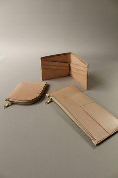 Prototype trio,  vege tan wallets