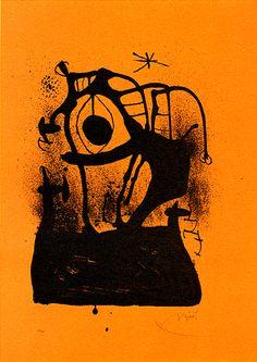 'The Orange Hypnotizer', Joan Miró, 1969. ~ETS #miro #art #orange