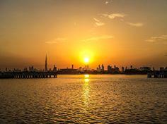 Dubai Skyline Sunset Dubai, UAE