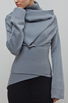 Women's Irregular Hem Pure Color Long Sleeve Sweater Women's Irregular Hem Pure Color Long Sleeve Sweater – Ratecuteshop Looks Style, Looks Cool, Style Me, Fashion Mode, Look Fashion, Womens Fashion, Loose Sweater, Long Sleeve Sweater, Comfy Sweater