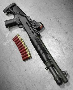 Still my favorite Shotgun Military Weapons, Weapons Guns, Airsoft Guns, Guns And Ammo, Benelli M4, Combat Shotgun, Tactical Shotgun, Cool Guns, Zombies