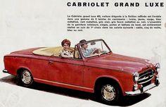 Peugeot 403 decapotable cabriolet grand luxe - Publicite Automobile couleur de 1960.jpg (Image JPEG, 609 × 393 pixels)