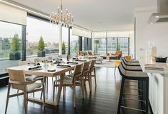 Sleek Roller Blinds by Grand Design Blinds in a Beautifully Designed London Penthouse