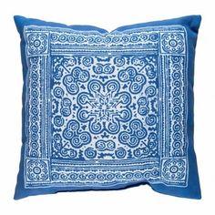 Indigo Blues Mandala Outdoor Pillow by Surya Diy Pillows, Blue Pillows, Accent Pillows, Blue And White Pillows, Blue Bedding, Throw Pillow Cases, Throw Pillows, Fur Throw, Texture