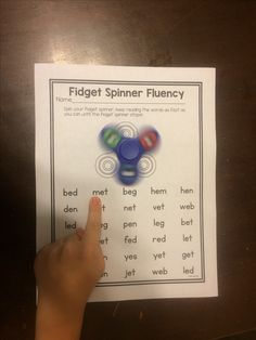 RIT Band Fidget spinners are all the craze right now! Turn them into a fluency practice with this! Fluency Activities, Sight Word Activities, Reading Activities, Reading Fluency Games, Sight Word Games, Reading Resources, Reading Strategies, Reading Skills, Kindergarten Reading