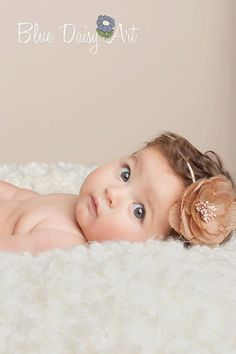 Baby Headbands Newborn Baby girl Headbands Photography Prop- Pink Purple & Brown. $8.95, via Etsy.