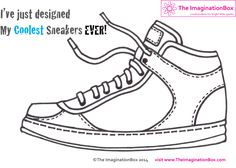 Only creative - The eyes of the art teacher: With or without original - Art Education ideas Creative Activities, Art Activities, Design Your Own Sneakers, Sneakers Design, Zentangle, Art Sub Lessons, Art Sub Plans, Shoe Template, Art Handouts
