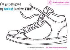 Imagine running around in your own designer sneakers! Free pdf download, explore colour, shape, graphic design