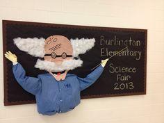 Burlington Elementary Science Fair bulletin board.