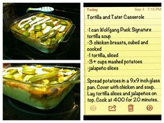 Tortilla and Tater Casserole  Easy, cheap meal!