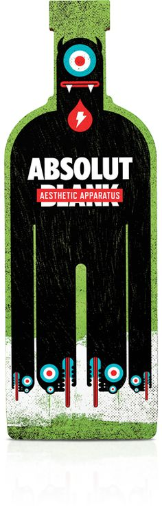 Here you go Graves vodka and eyeballs on Absolute Blank - Aesthetic Apparatus : ) PD Absolut Vodka, Marketing, Limited Edition Packaging, Pop Art, Bottle Packaging, Creative Advertising, Illustrations, Bottle Design, Packaging Design Inspiration