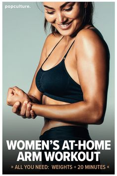 A great at-home workout that will have you sayinggoodbye to your bat wingsand hello to tight and toned arms! All you need is a set of dumbbells! Popculture.com  #armworkout #skinnyarms #armworkoutweights #athomeworkout #batwings #bingoarms #healthyliving #womensarmworkout #workout #fitness #exercise