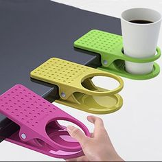 Excellent for a game table or outside chairs. Great idea. 3-pack of cup holder clips - These are both fun and very useful - Save 74% Just $8.99