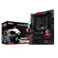 MSI X99A GAMING 7 (7885-032R)  - Supports New Intel Core i7 processors Extreme Edition in LGA 2011-3 socket; - Supports Quad Channel DDR4-3333(OC) Memory; - USB 3.1: Delivering speeds up to 10Gb/s USB 3.1 offers performance twice as fast as a regular USB 3.0 connection; - Turbo M.2: delivering next generation M.2 Gen3 x4 performance with transfer speeds up to 32 Gb/s; - SATA Express  USB 3.1  SATA 6Gb/s; - Multi-GPU: Quad NVIDIA SLI & AMD CrossFire Support; - OC Engine: Reach higher…