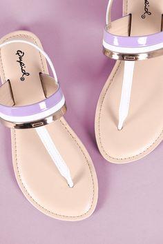 Colorblock T-Strap Sandal | UrbanOG
