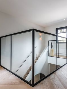 Interior Door Styles, Interior Styling, Loft Design, House Design, Contemporary Fireplace Designs, Prospect House, Stairway Decorating, Stair Railing Design, New Homes