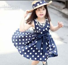 Girl Clothes Cute Polka Dot Dresses Kids Summer Dress Fashion Bowknot Sash Princess Dresses Jumper Skirt Pleated Dress Children Clothing with Free Shipping  have discount 6.0% Off sales for Wholesale