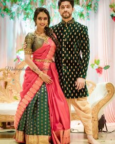 Discover recipes, home ideas, style inspiration and other ideas to try. Lehenga Saree Design, Lehenga Style Saree, Pattu Saree Blouse Designs, Lehnga Dress, Lehenga Designs, Half Saree Designs, Fancy Blouse Designs, Indian Bridal Outfits, Indian Bridal Fashion