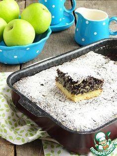 Маково-яблочный пирог на песочной основе
