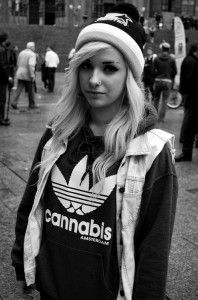 Stoner Chick With A Cannabis Shirt The Ganja Girls | Click to See It!!