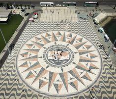 From the sky Rosa dos Ventos Lisbon.