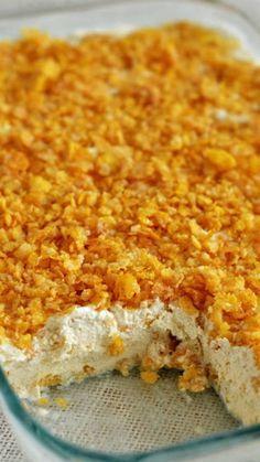 "Mexican ""Fried"" Ice Cream Dessert Recipe ~ Amazing crust that coats a dreamy, cinnamon ice cream combo... SO GOOD!"