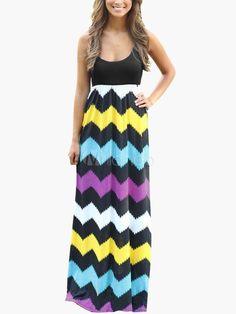 b00129b47a 2015 Sexy Summer Boho Beach Dress - Milanoo.com Chevron Dress