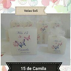 #mariposas velas personalizadas #pimpollitovelas #15años #souvenir