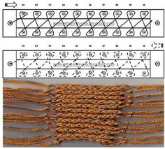 Loom Knitting stitches - work and diagram # 11- this is the only one I have ever done! LOOKING TO CHANGE THAT!