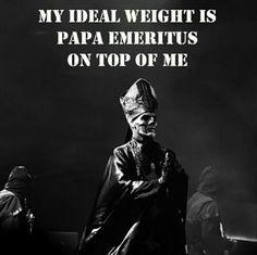 Papa Emeritus Ghost bc Meme