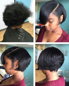 2018 Short Bob Hairstyles with Bangs Awesome ~ Dim-Kino Bob Hairstyles short black bob hairstyles 2018 Bob Hairstyles With Bangs, Short Black Hairstyles, My Hairstyle, Weave Hairstyles, Short Hair Cuts, Girl Hairstyles, Hairstyles 2018, Bob Haircuts, African American Short Hairstyles