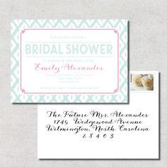 Bridal Shower Invitation  Printable  DIY by LilLizaJaneDesigns, $15.00