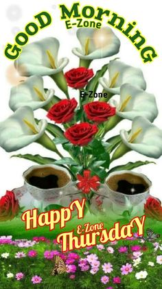 Good Morning Sunday Images, Good Morning Thursday, Good Morning Flowers, Good Afternoon, Good Morning Wishes, Happy Thursday, Good Morning Quotes, Beautiful Rose Flowers, Have A Blessed Day