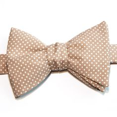 Nœud papillon Mini pois taupe  Taupe with pin dots bow tie