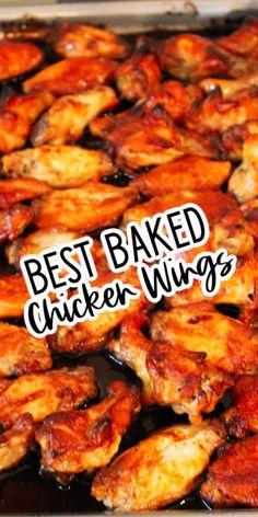 Baked Chicken wings Recipe Turkey Recipes, Pork Recipes, Real Food Recipes, Drink Recipes, Easy Dinner Recipes, Easy Meals, Simple Recipes, Glazed Chicken, Oven Baked Chicken Wings