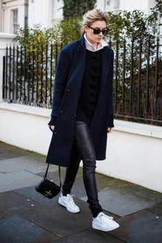 Trend Report: Total Black with Sneakers | Popbee - a fashion, beauty blog in Hong Kong.