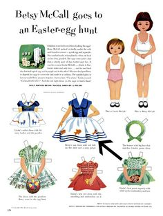 TOYS, CHILDRENS BOOKS FROM THE  1950'S MCCALLS PAPERDOLLS | Mid2Mod: Mommy's little paper doll