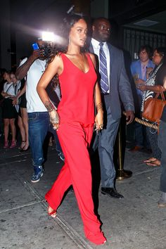 Rihanna arriving at Jourdan Dunns event in NYC.