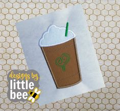 **THIS IS NOT A PATCH, SHIRT, OR A PHYSICAL ITEM.** This is a design to be used with an embroidery machine. NOTHING WILL BE MAILED TO YOU. Do not purchase this item if you do not have an embroidery machine.  This adorable little iced coffee cup is the perfect addition to any item that needs a pick-me-up. Sizes included are 4x4, 5x7, and 6x10 in the following formats: PES, DST, EXP, HUS, JEF, VIP, VP3, and XXX. Need another format? Message me! You may download your embroidery file immediately…