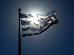 Greece was voted the most beautiful country for Greek Flag, Flag Colors, Acropolis, Mykonos, Deep Blue, Athens, Mount Everest, Cool Photos, Amazing Photos