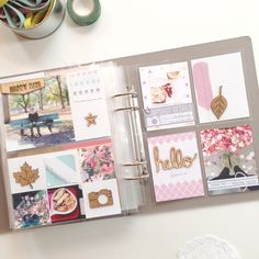 perfect Fall layout by Analog Paper | love what she did with the empty white space on the left side <3 <3